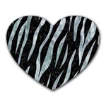 SKIN3 BLACK MARBLE & ICE CRYSTALS (R) Heart Mousepads
