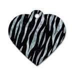 SKIN3 BLACK MARBLE & ICE CRYSTALS (R) Dog Tag Heart (Two Sides)