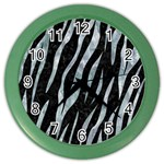 SKIN3 BLACK MARBLE & ICE CRYSTALS (R) Color Wall Clocks