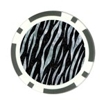 SKIN3 BLACK MARBLE & ICE CRYSTALS (R) Poker Chip Card Guard