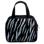 SKIN3 BLACK MARBLE & ICE CRYSTALS (R) Classic Handbags (2 Sides)
