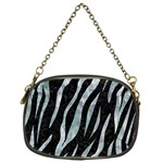 SKIN3 BLACK MARBLE & ICE CRYSTALS (R) Chain Purses (One Side)