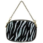 SKIN3 BLACK MARBLE & ICE CRYSTALS (R) Chain Purses (Two Sides)