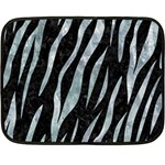 SKIN3 BLACK MARBLE & ICE CRYSTALS (R) Double Sided Fleece Blanket (Mini)