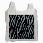 SKIN3 BLACK MARBLE & ICE CRYSTALS (R) Recycle Bag (Two Side)