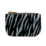 SKIN3 BLACK MARBLE & ICE CRYSTALS (R) Mini Coin Purses