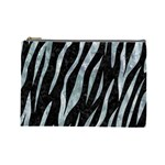 SKIN3 BLACK MARBLE & ICE CRYSTALS (R) Cosmetic Bag (Large)