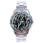 SKIN3 BLACK MARBLE & ICE CRYSTALS (R) Stainless Steel Analogue Watch
