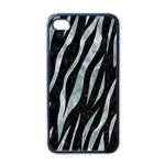 SKIN3 BLACK MARBLE & ICE CRYSTALS (R) Apple iPhone 4 Case (Black)