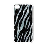 SKIN3 BLACK MARBLE & ICE CRYSTALS (R) Apple iPhone 4 Case (White)