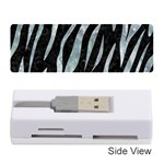 SKIN3 BLACK MARBLE & ICE CRYSTALS (R) Memory Card Reader (Stick)