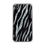 SKIN3 BLACK MARBLE & ICE CRYSTALS (R) Apple iPhone 4 Case (Clear)