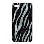 SKIN3 BLACK MARBLE & ICE CRYSTALS (R) Apple iPhone 4/4s Seamless Case (Black)