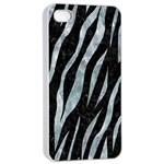 SKIN3 BLACK MARBLE & ICE CRYSTALS (R) Apple iPhone 4/4s Seamless Case (White)