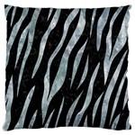 SKIN3 BLACK MARBLE & ICE CRYSTALS (R) Large Cushion Case (One Side)