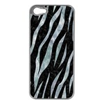 SKIN3 BLACK MARBLE & ICE CRYSTALS (R) Apple iPhone 5 Case (Silver)
