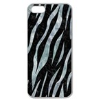 SKIN3 BLACK MARBLE & ICE CRYSTALS (R) Apple Seamless iPhone 5 Case (Clear)