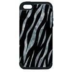 SKIN3 BLACK MARBLE & ICE CRYSTALS (R) Apple iPhone 5 Hardshell Case (PC+Silicone)