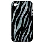 SKIN3 BLACK MARBLE & ICE CRYSTALS (R) Apple iPhone 4/4S Hardshell Case (PC+Silicone)