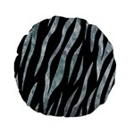 SKIN3 BLACK MARBLE & ICE CRYSTALS (R) Standard 15  Premium Round Cushions