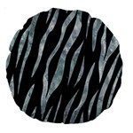 SKIN3 BLACK MARBLE & ICE CRYSTALS (R) Large 18  Premium Round Cushions