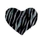 SKIN3 BLACK MARBLE & ICE CRYSTALS (R) Standard 16  Premium Heart Shape Cushions