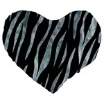 SKIN3 BLACK MARBLE & ICE CRYSTALS (R) Large 19  Premium Heart Shape Cushions