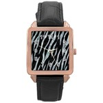 SKIN3 BLACK MARBLE & ICE CRYSTALS (R) Rose Gold Leather Watch