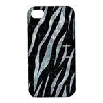 SKIN3 BLACK MARBLE & ICE CRYSTALS (R) Apple iPhone 4/4S Hardshell Case with Stand