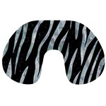 SKIN3 BLACK MARBLE & ICE CRYSTALS (R) Travel Neck Pillows