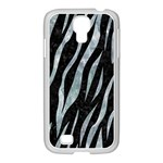SKIN3 BLACK MARBLE & ICE CRYSTALS (R) Samsung GALAXY S4 I9500/ I9505 Case (White)