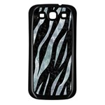 SKIN3 BLACK MARBLE & ICE CRYSTALS (R) Samsung Galaxy S3 Back Case (Black)