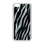 SKIN3 BLACK MARBLE & ICE CRYSTALS (R) Apple iPhone 5C Seamless Case (White)