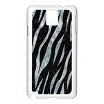 SKIN3 BLACK MARBLE & ICE CRYSTALS (R) Samsung Galaxy Note 3 N9005 Case (White)