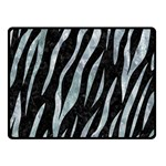 SKIN3 BLACK MARBLE & ICE CRYSTALS (R) Double Sided Fleece Blanket (Small)