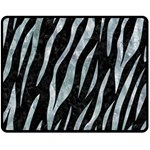 SKIN3 BLACK MARBLE & ICE CRYSTALS (R) Double Sided Fleece Blanket (Medium)