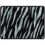SKIN3 BLACK MARBLE & ICE CRYSTALS (R) Double Sided Fleece Blanket (Large)