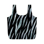SKIN3 BLACK MARBLE & ICE CRYSTALS (R) Full Print Recycle Bags (M)