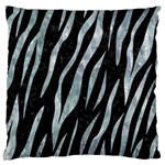 SKIN3 BLACK MARBLE & ICE CRYSTALS (R) Large Flano Cushion Case (One Side)