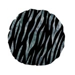SKIN3 BLACK MARBLE & ICE CRYSTALS (R) Standard 15  Premium Flano Round Cushions