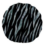 SKIN3 BLACK MARBLE & ICE CRYSTALS (R) Large 18  Premium Flano Round Cushions