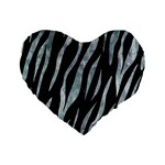 SKIN3 BLACK MARBLE & ICE CRYSTALS (R) Standard 16  Premium Flano Heart Shape Cushions