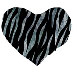 SKIN3 BLACK MARBLE & ICE CRYSTALS (R) Large 19  Premium Flano Heart Shape Cushions