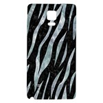 SKIN3 BLACK MARBLE & ICE CRYSTALS (R) Galaxy Note 4 Back Case