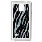 SKIN3 BLACK MARBLE & ICE CRYSTALS (R) Samsung Galaxy Note 4 Case (White)