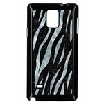 SKIN3 BLACK MARBLE & ICE CRYSTALS (R) Samsung Galaxy Note 4 Case (Black)