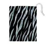 SKIN3 BLACK MARBLE & ICE CRYSTALS (R) Drawstring Pouches (Extra Large)
