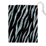SKIN3 BLACK MARBLE & ICE CRYSTALS (R) Drawstring Pouches (XXL)
