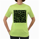 SKIN5 BLACK MARBLE & ICE CRYSTALS Women s Green T-Shirt