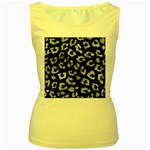 SKIN5 BLACK MARBLE & ICE CRYSTALS Women s Yellow Tank Top